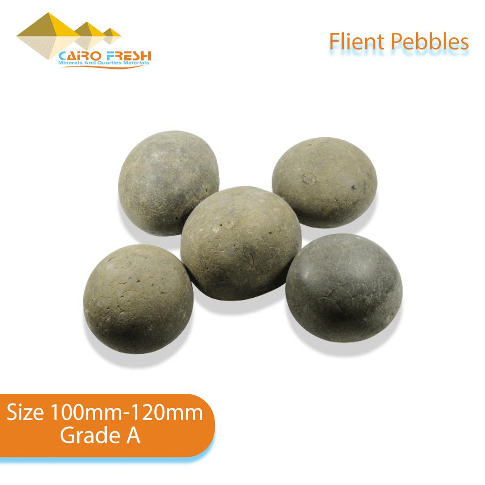 Flint pebbles Size 100-120 Grade A for ceramic.