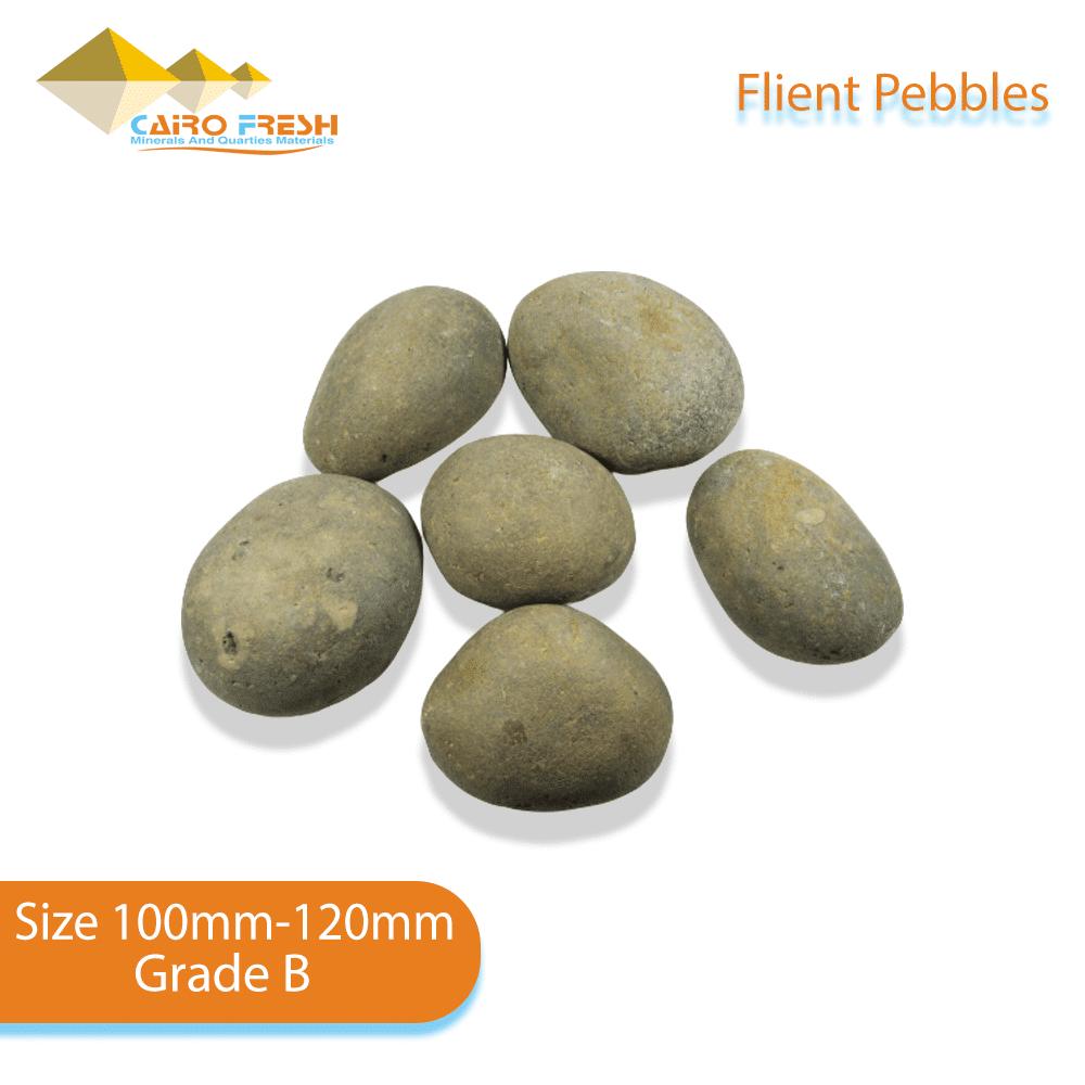 Flint pebbles Size 100-120 Grade B for ceramic.