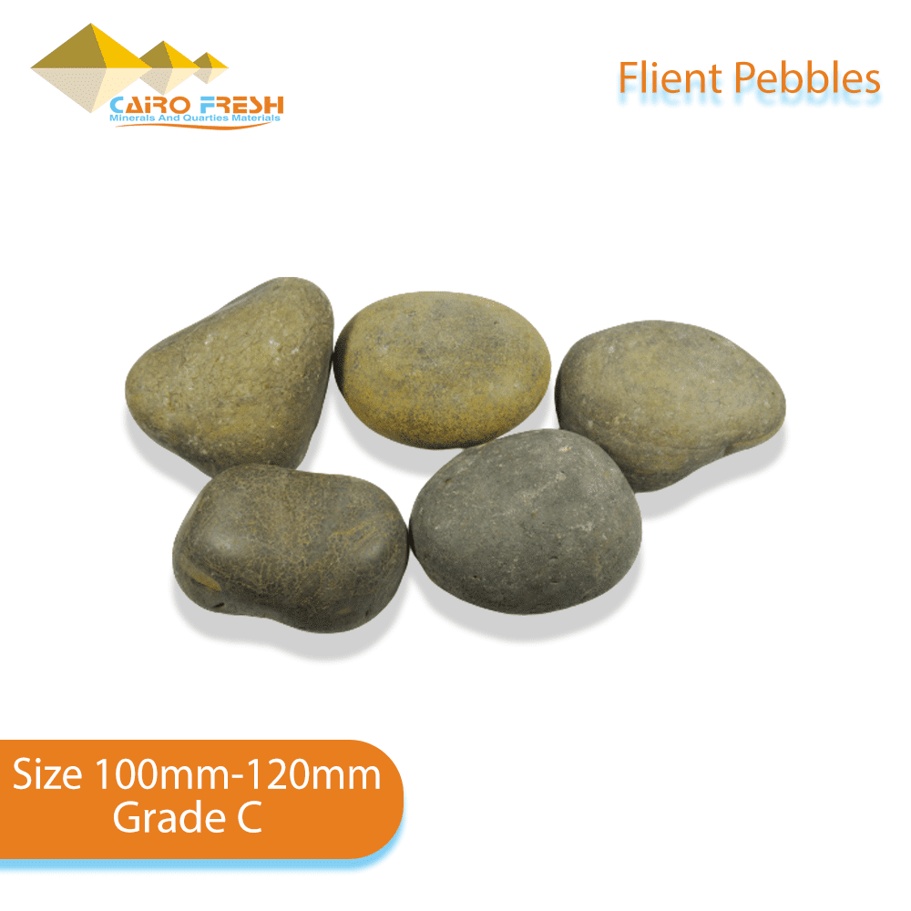 Flint pebbles Size 100-120 Grade C for ceramic.