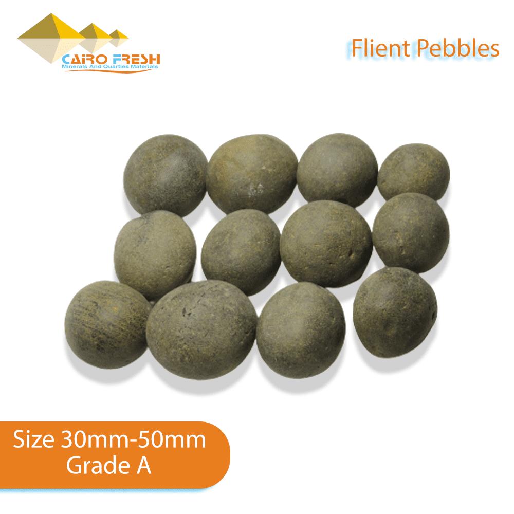 Flint pebbles Size 30-50 Grade A for ceramic.