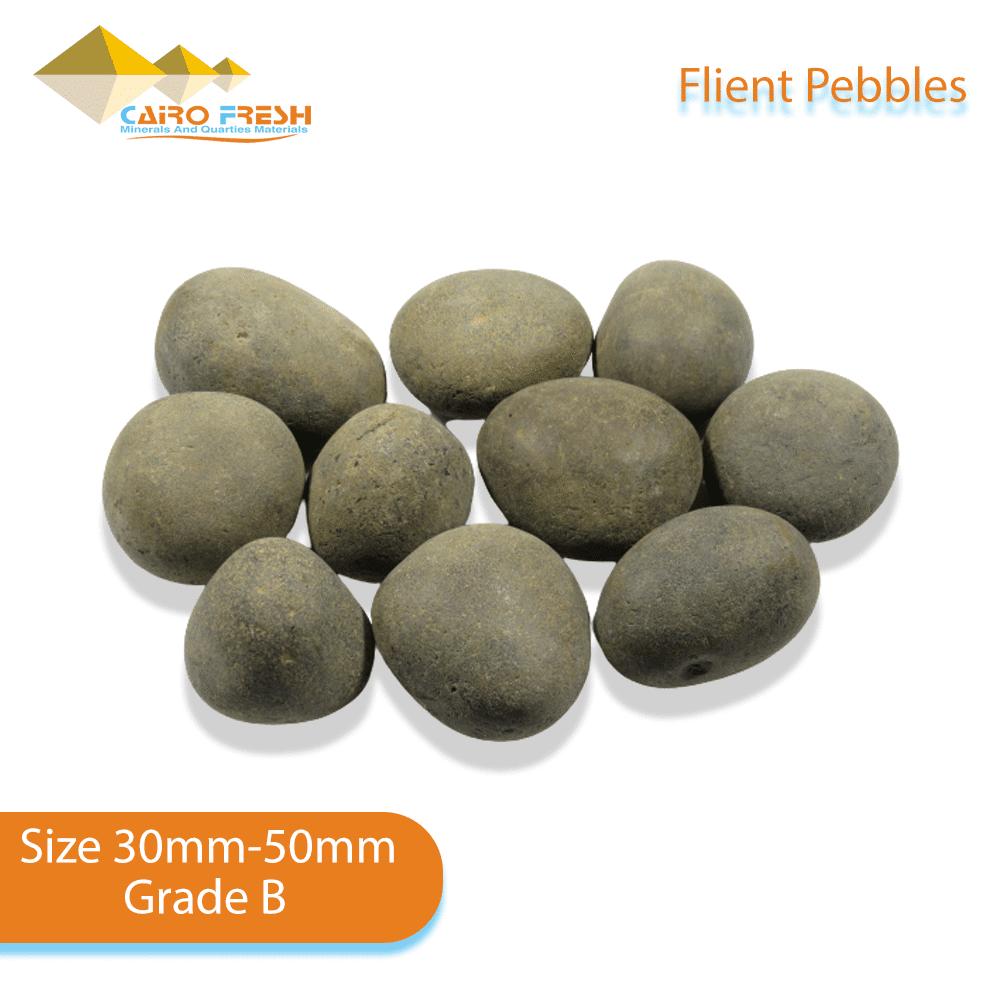 Flint pebbles Size 30-50 Grade B for ceramic.