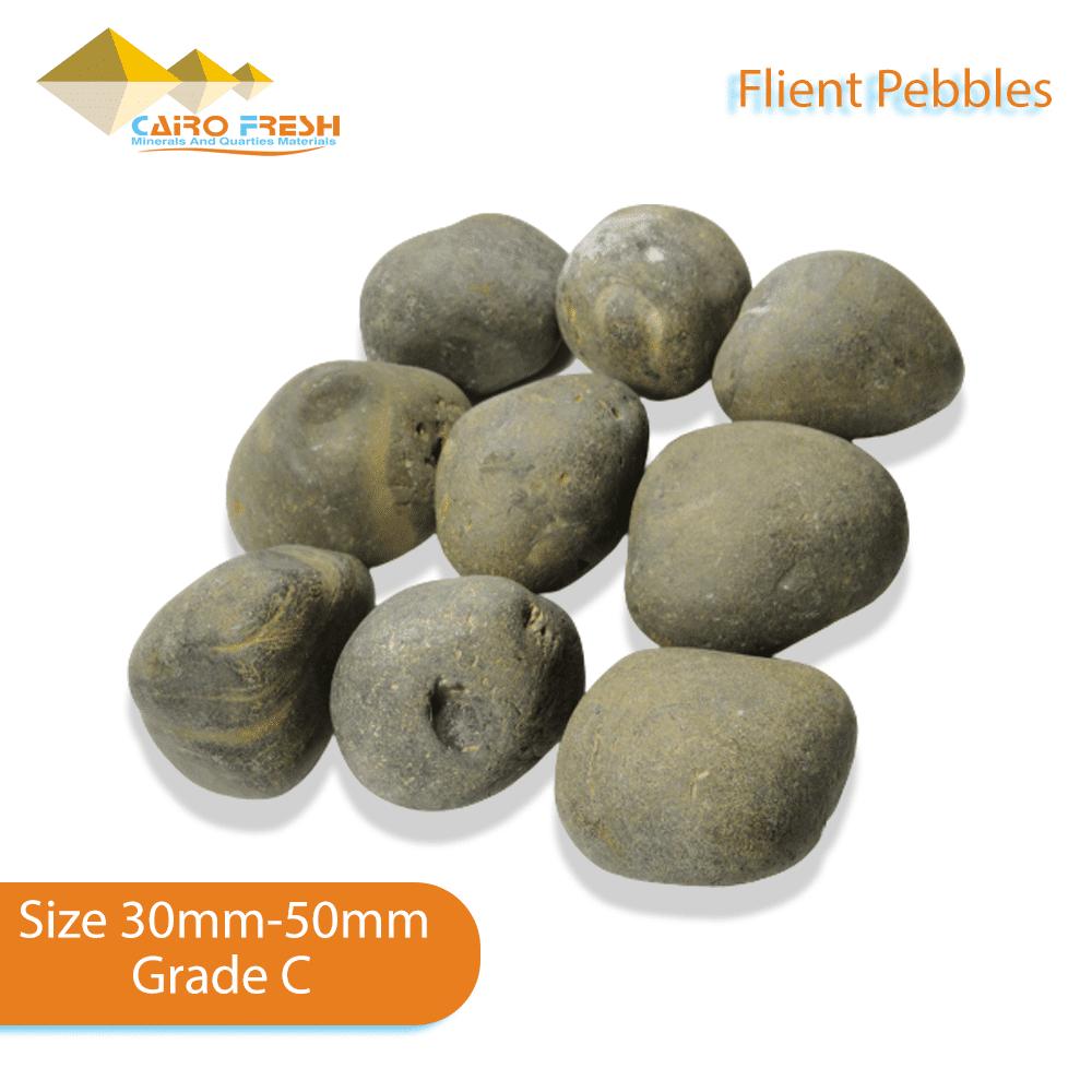 Flint pebbles Size 30-50 Grade C for ceramic.