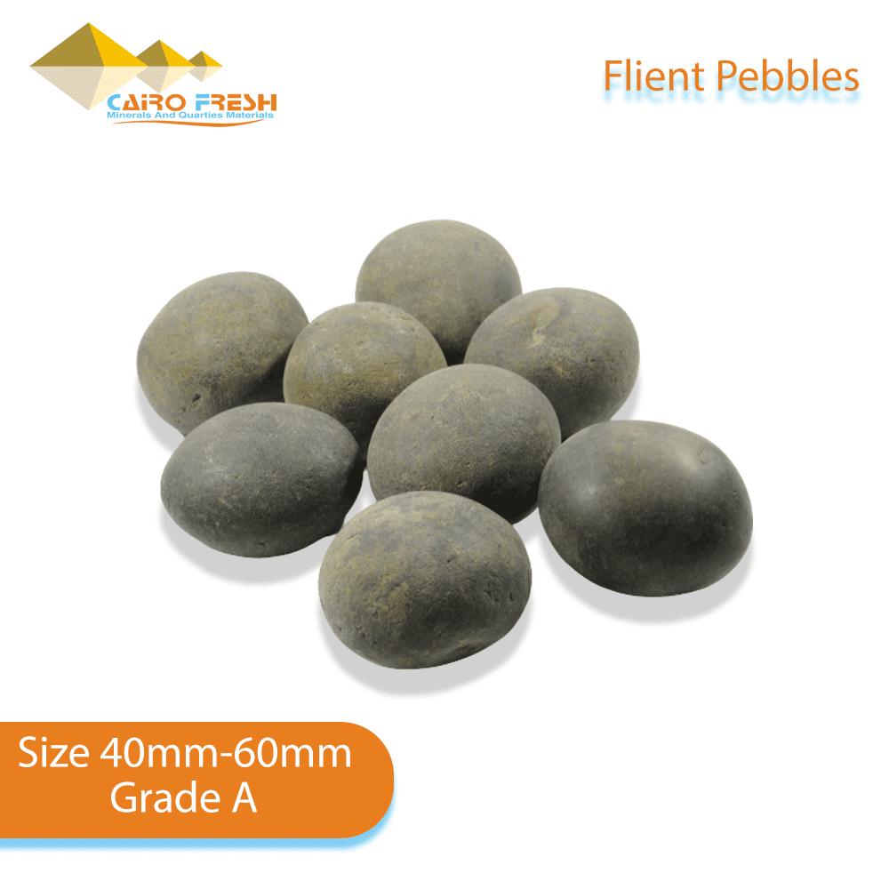 Flint pebbles Size 40-60 Grade A for ceramic.