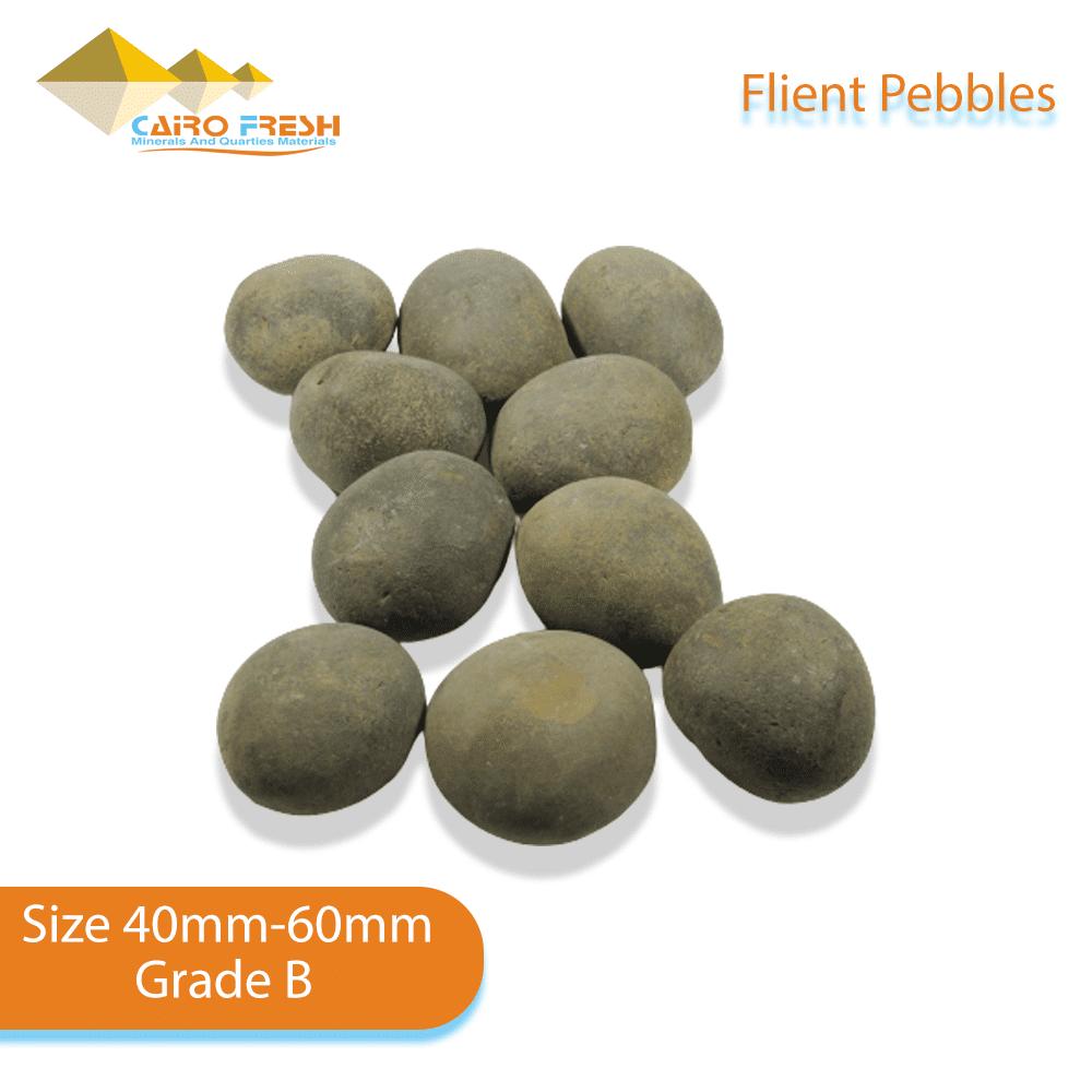 Flint pebbles Size 40-60 Grade B for ceramic.
