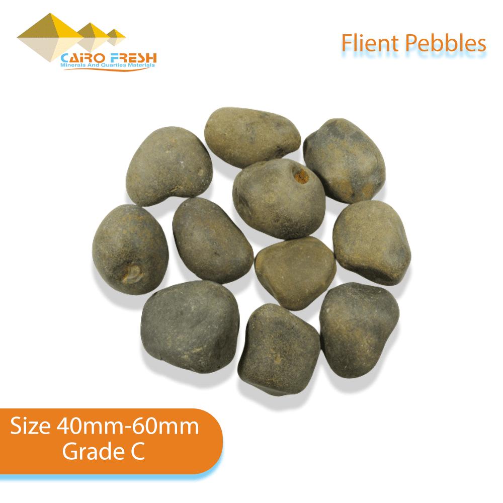 Flint pebbles Size 40-60 Grade C for ceramic.