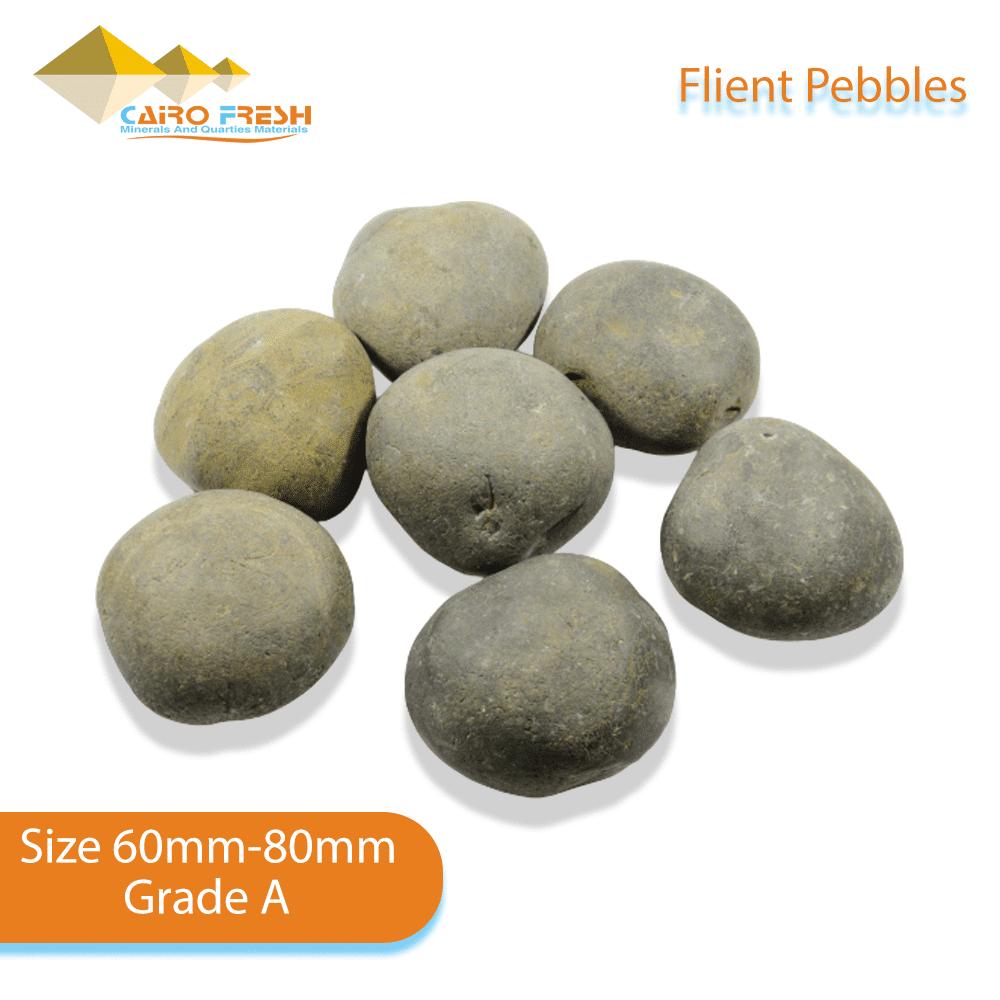Flint pebbles Size 60-80 Grade A for ceramic.