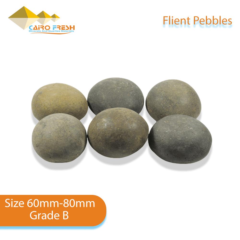 Flint pebbles Size 60-80 Grade B for ceramic.