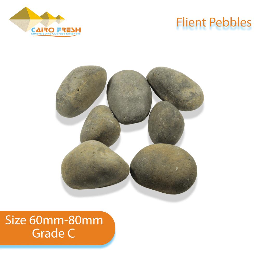 Flint pebbles Size 60-80 Grade C for ceramic.